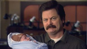 Ron Swanson Baby Picture
